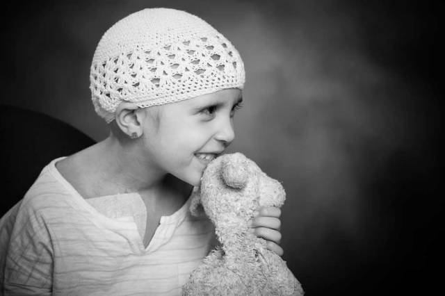 A child fighting against cancer.